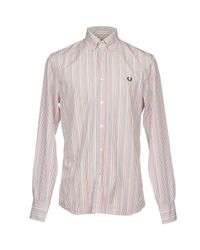 Fred Perry Orange Shirt for men