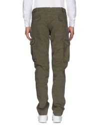 40weft Green Casual Trouser for men