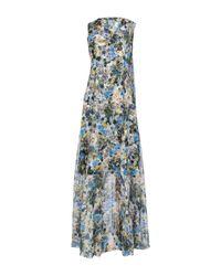 Erdem Blue Long Dress