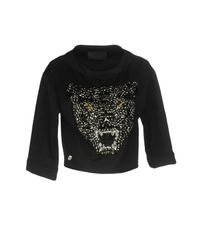 Philipp Plein Black Sweatshirt