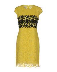 Pinko Yellow Short Dress