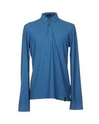 Drumohr Blue Polo Shirt for men
