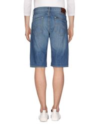Lee Jeans Blue Denim Bermudas for men