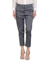 Annarita N. - Gray Casual Trouser - Lyst