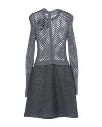 RED Valentino - Gray Short Dress - Lyst