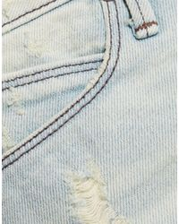 RTA Blue Denim Shorts