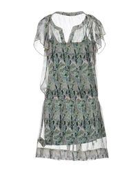 Kristina Ti - Gray Short Dress - Lyst