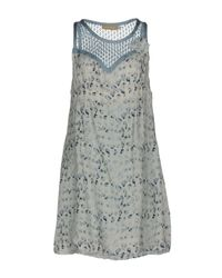Ermanno Scervino Blue Short Dress