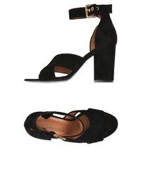 Via Roma 15 Black Sandals