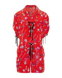Markus Lupfer Red Playsuits