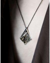 PAOLA GRANDE - Metallic Necklace - Lyst