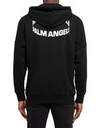 Felpa di Palm Angels in Black da Uomo
