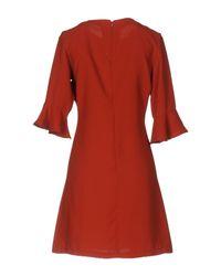 Berna Red Short Dress