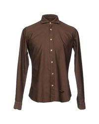 Tintoria Mattei 954 Brown Shirt for men
