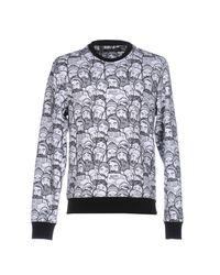 Frankie Morello White Sweatshirt for men