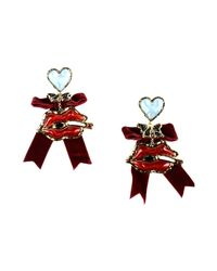 DSquared² Red Earrings