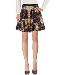 Philipp Plein Black Knee Length Skirt