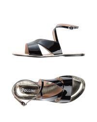 Pollini Black Sandals