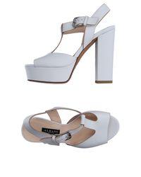 Albano White Sandals