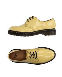 Dr. Martens Yellow Lace-up Shoe
