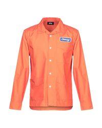 Stussy Orange Shirt for men