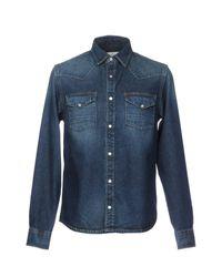 Deus Ex Machina Blue Denim Shirt for men