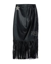 Relish Black Knee Length Skirt
