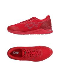 Asics Red Low-tops & Sneakers for men