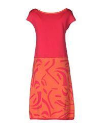 Fontana Couture Multicolor Knee-length Dress