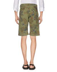 40weft Green Bermuda Shorts for men