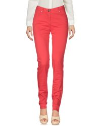 Class Roberto Cavalli Red Casual Pants