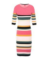 Pinko Multicolor Knielanges Kleid