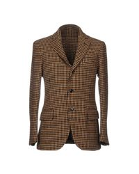 Mp Massimo Piombo Brown Blazer for men