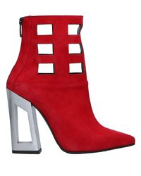 Marc Ellis Red Ankle Boots