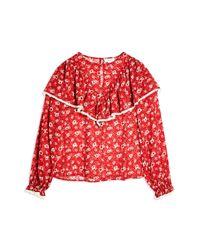 Blusa di TOPSHOP in Red