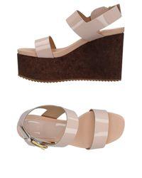 Vicini Tapeet Pink Sandals