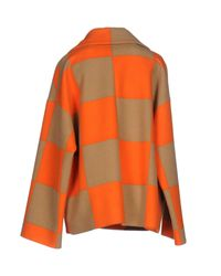 MSGM | Orange Coat | Lyst