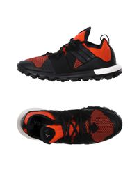 Y-3 - Black And Red Response Tr Boost Sneakers for Men - Lyst