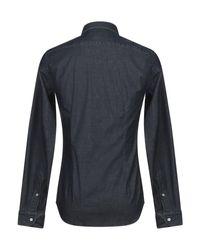 Chemise en jean Mauro Grifoni pour homme en coloris Blue