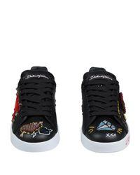 Dolce & Gabbana Black Low Sneakers & Tennisschuhe