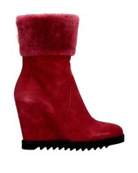 Loriblu Red Ankle Boots