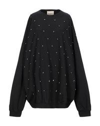 Sweat-shirt Erika Cavallini Semi Couture en coloris Black
