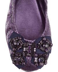 Tory Burch Purple Ballet Flats