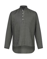 Camisa Takeshy Kurosawa de hombre de color Green