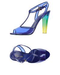 Sergio Rossi - Blue Sandals - Lyst