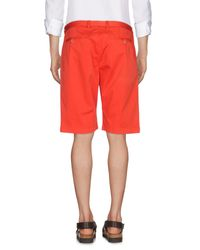 Etro - Red Bermuda Shorts for Men - Lyst