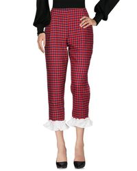 Sister Jane Red 3/4-length Trousers