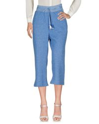 Patrizia Pepe Blue 3/4-length Trousers