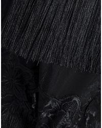 Minivestido Badgley Mischka de color Black
