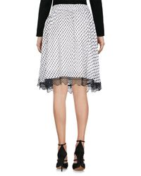Lala Berlin - White Knee Length Skirt - Lyst